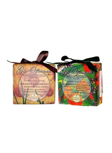 Nestidante Nesti Dante Gli Officinali Strawberry And Sage Sabun 200 Gr+ Sunflower & Saffron Sabun 200 Gr Renksiz